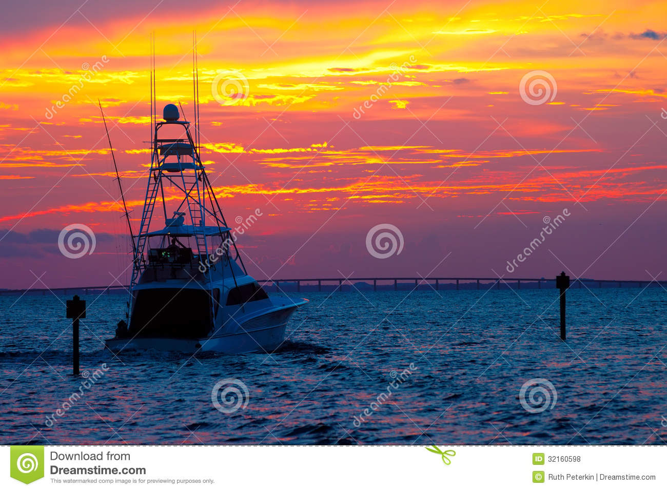 Sunset cruise stock photo image of glow ship sunset for Fishing times free