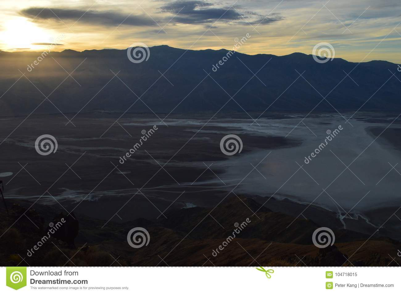 Sunset at Dante`s View in Death Valley California