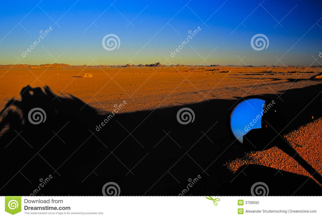 Download Sunset in the desert no.1 stock photo. Image of lonely - 3708592