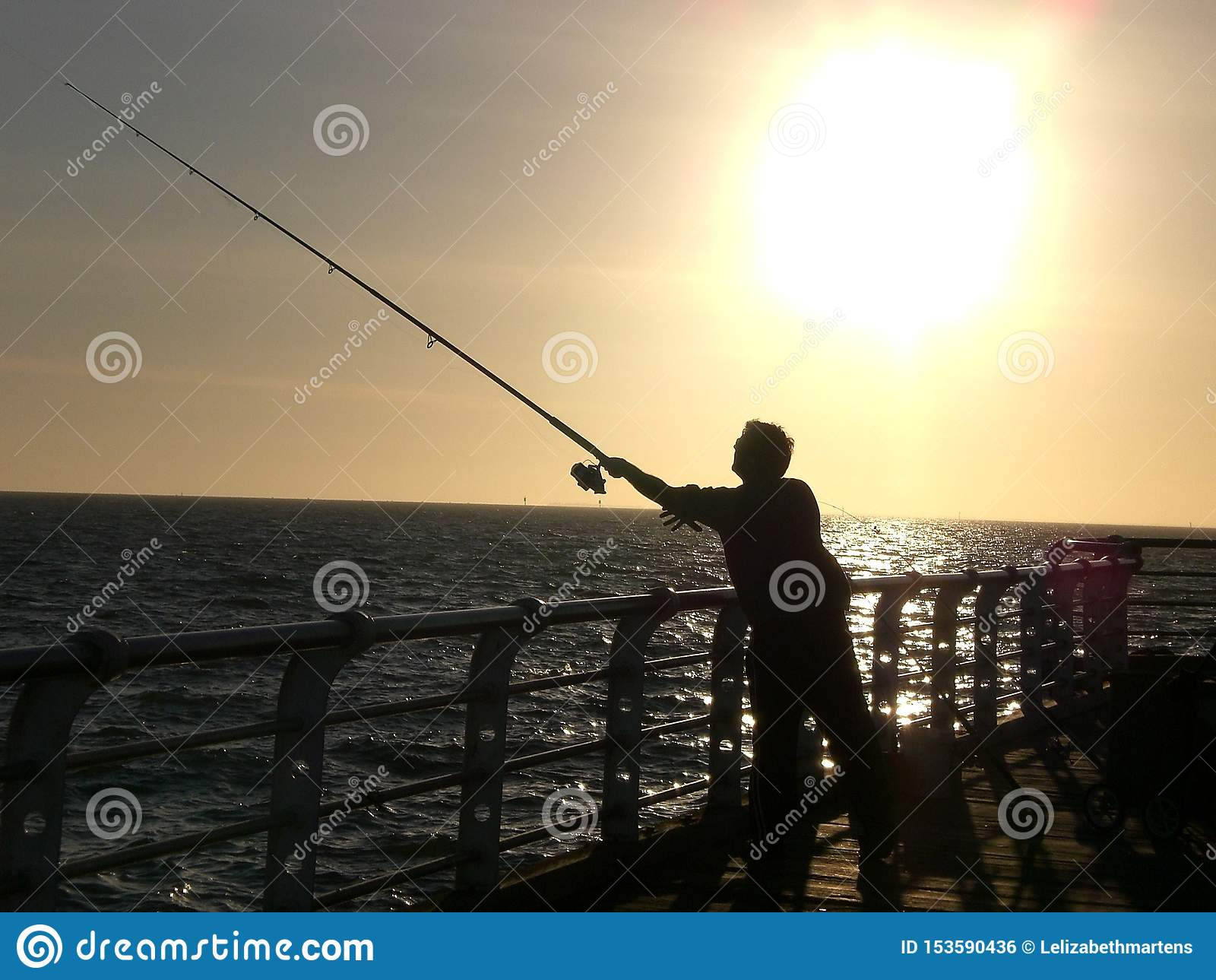 Sunset Fishing at the Pier