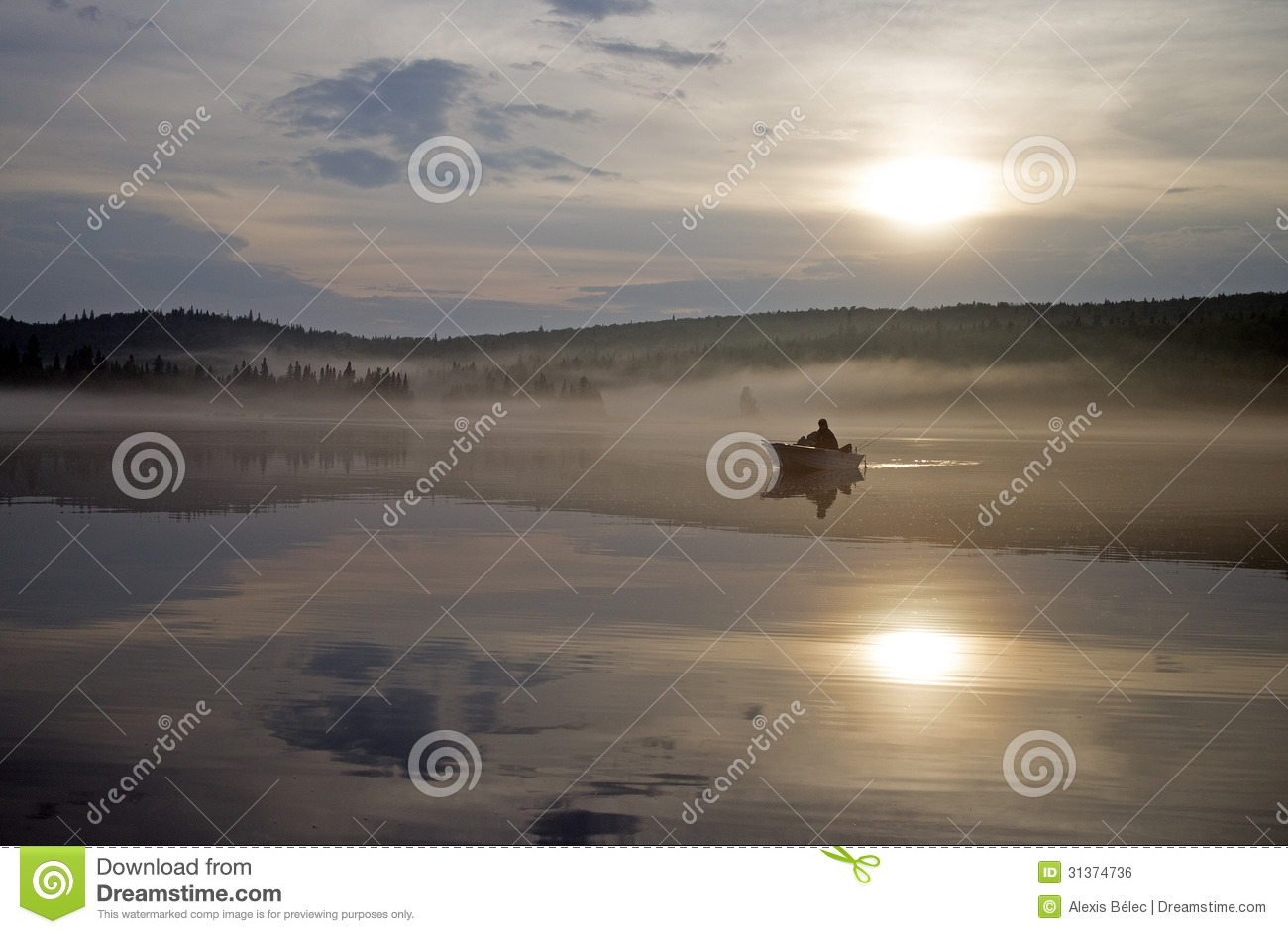 Sunset Fishing Royalty Free Stock Image - Image: 31374736