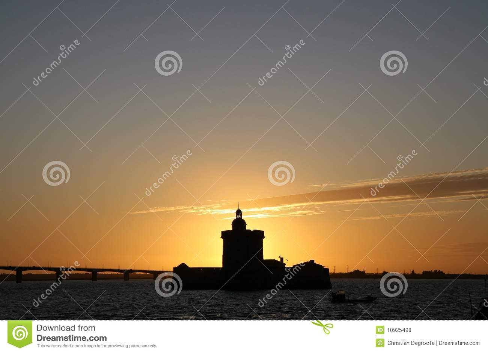 Sunset at Fort Louvois