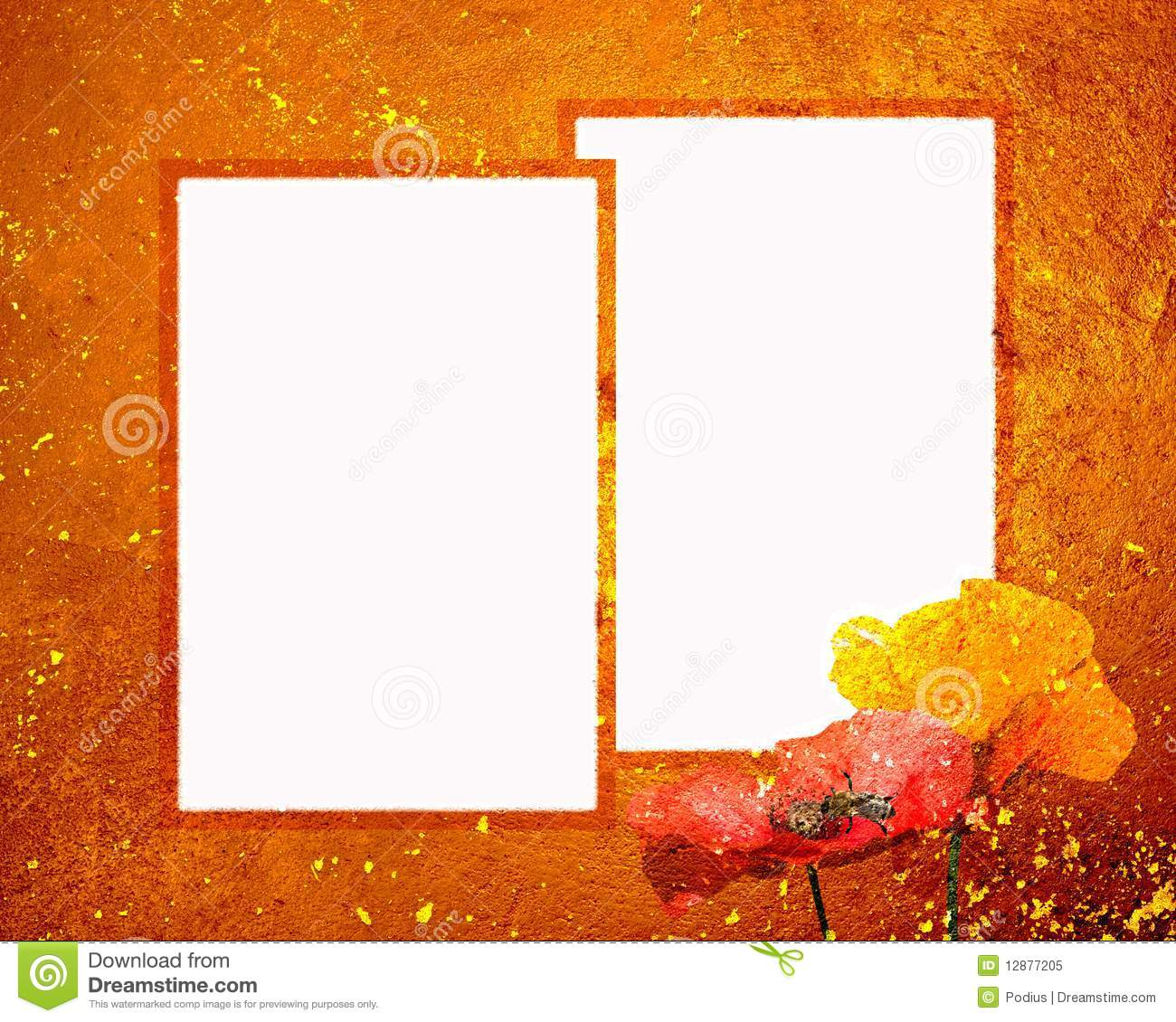 Sunset Frame Two 8x10 Grunge Stock Image - Image of bloom, concept ...