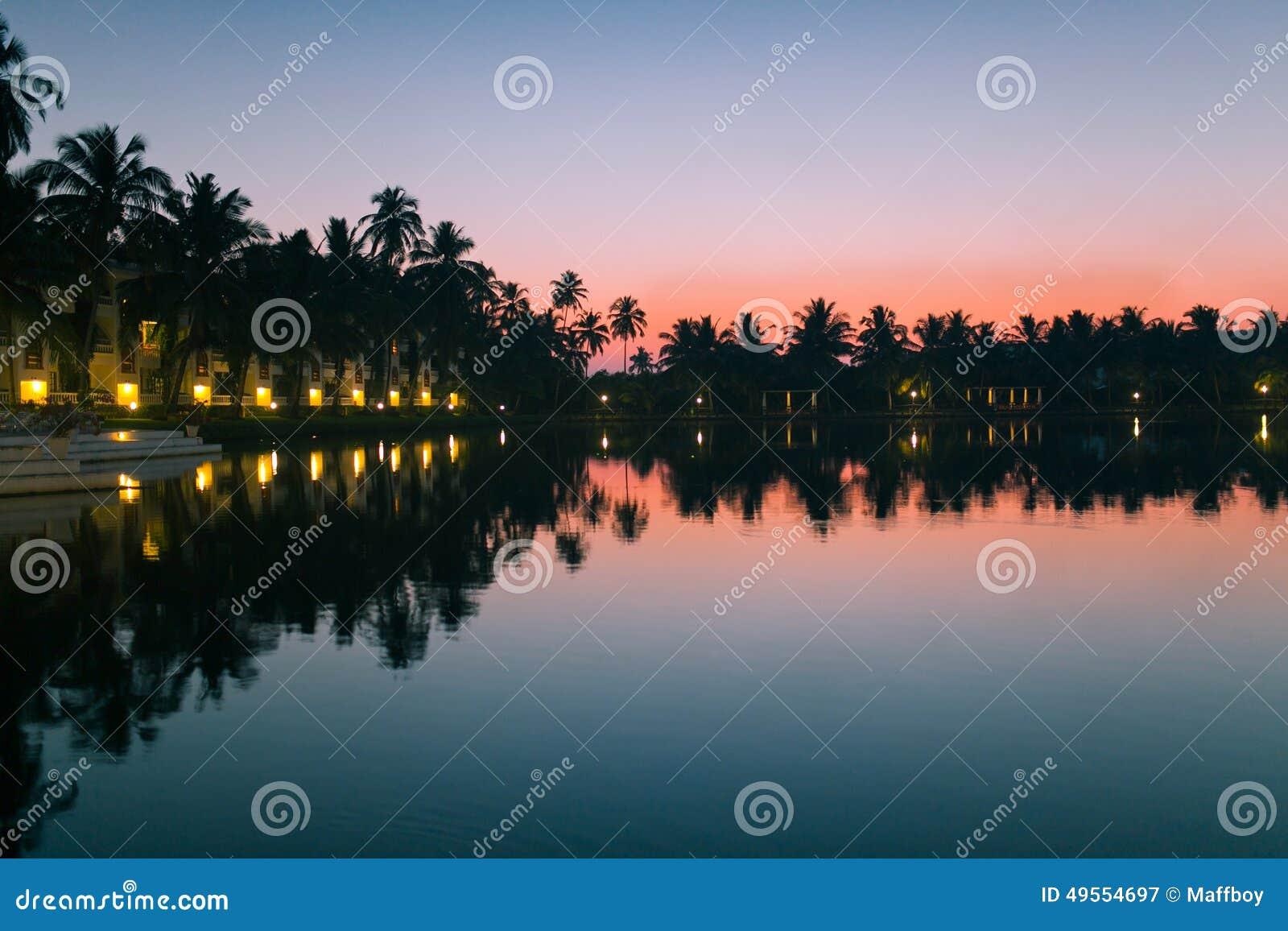 Sunset Goa Stock Image Image Of Travel Baga Landscape