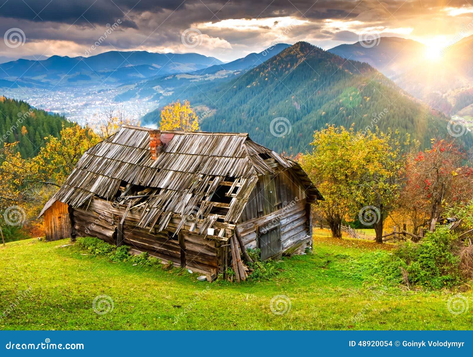 carpathian house landscape ...