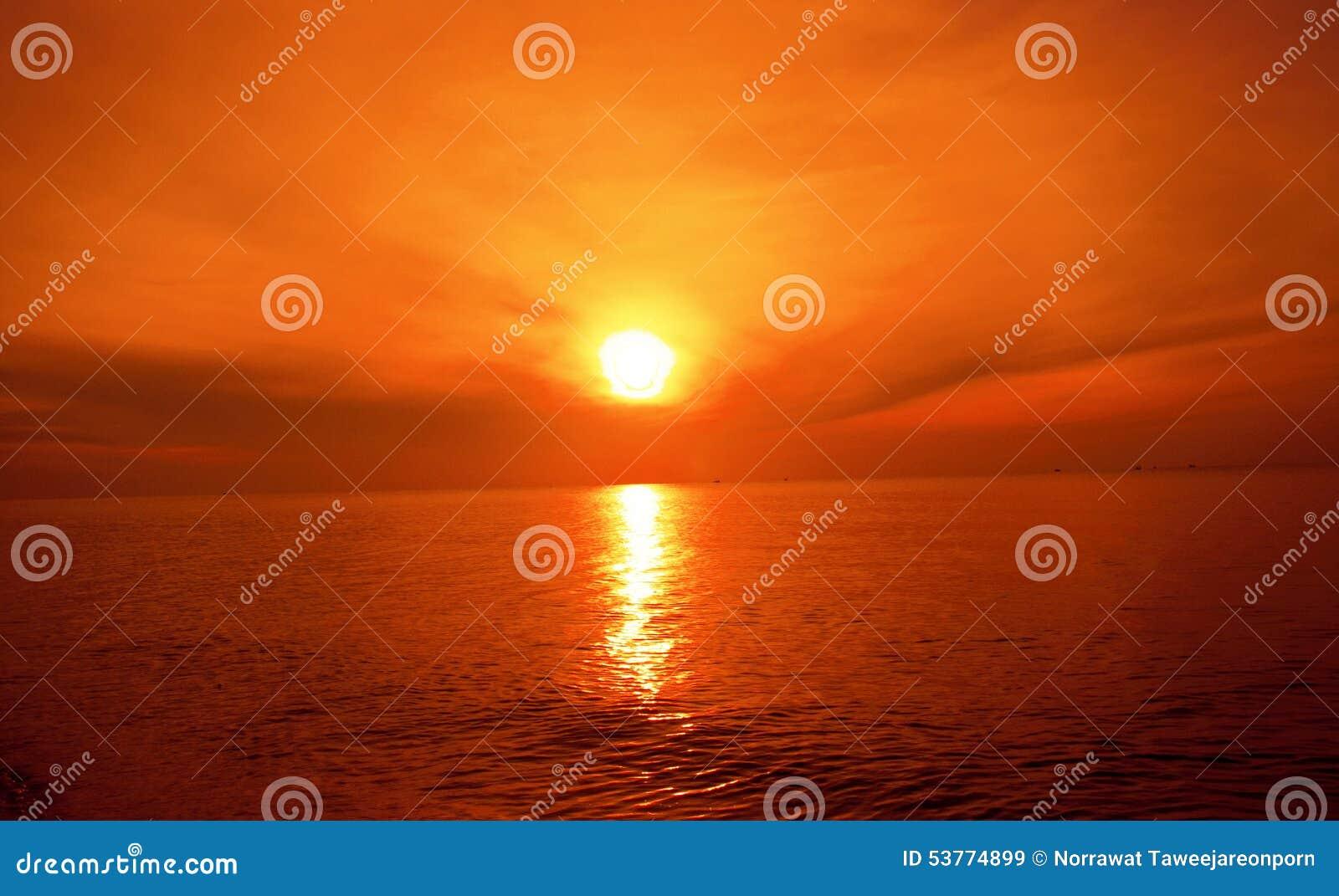 Sunset on sea.beach landscape.