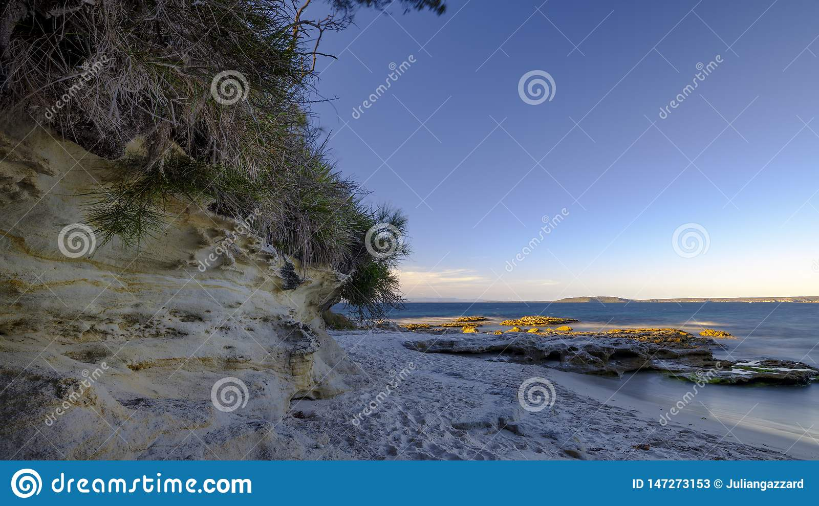 Sunset light on Murrays Beach in the Jervis Bay National Park, NSW, Australia