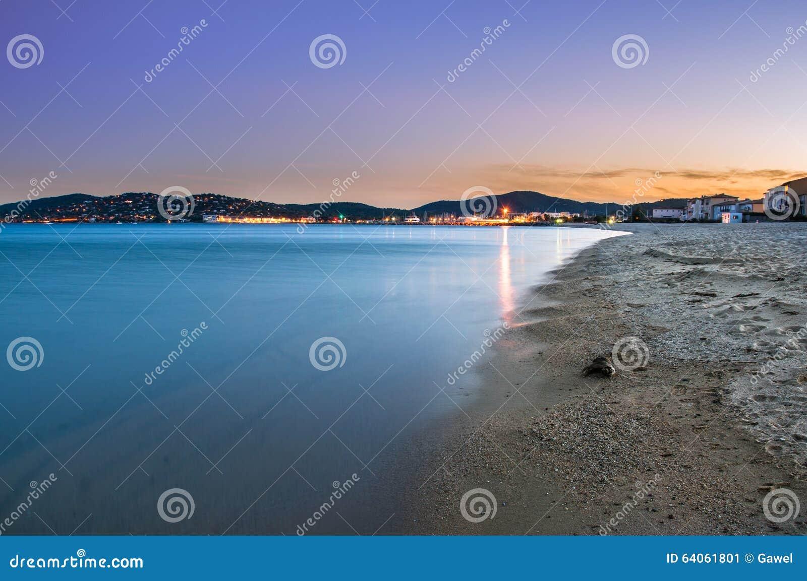 Sunset lights at Port Grimaud, France