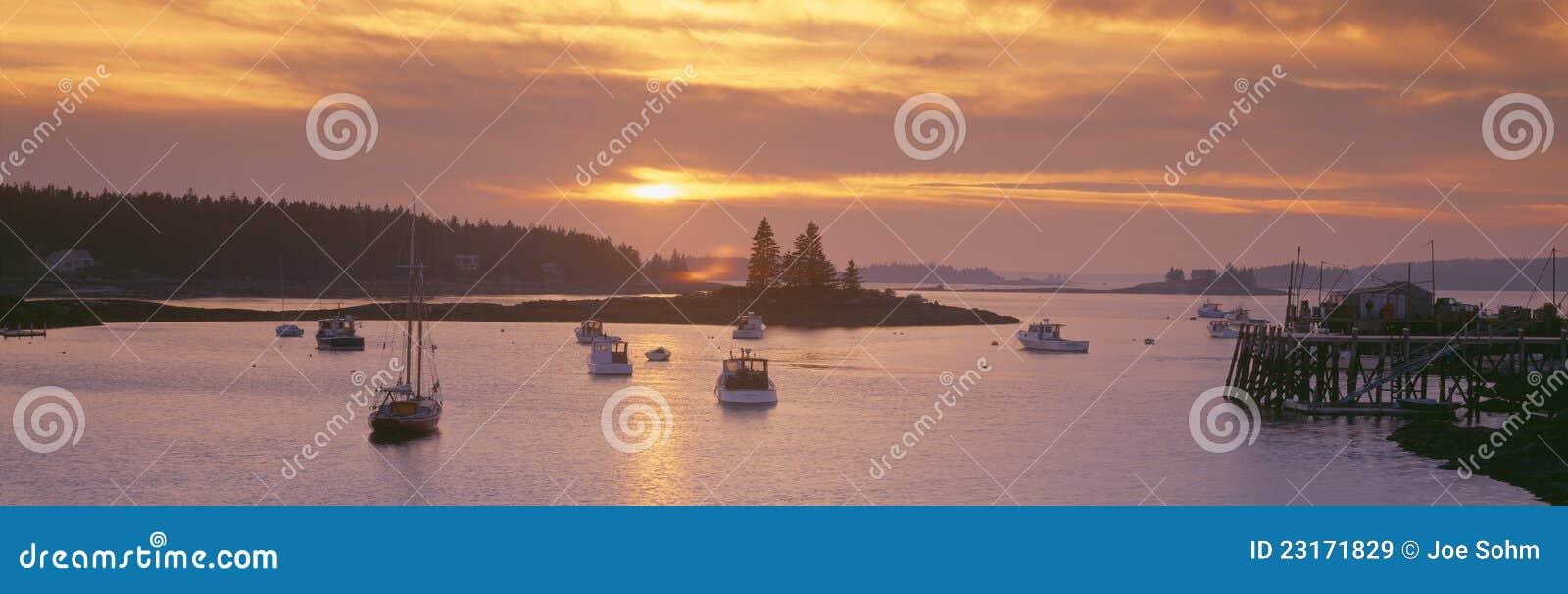 Sunset at Lobster Village,