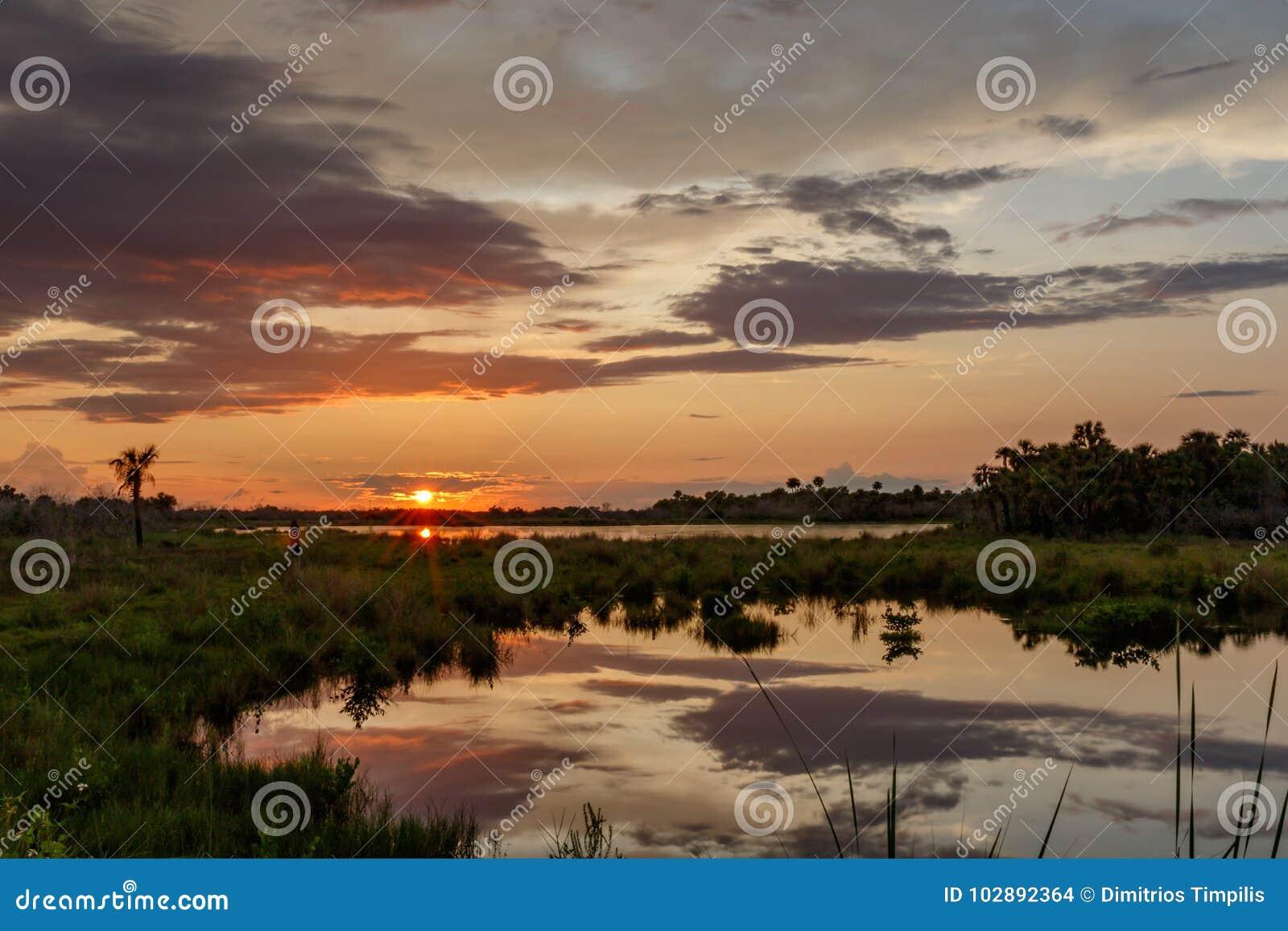 Sunset at Merritt Island National Wildlife Refuge, Florida