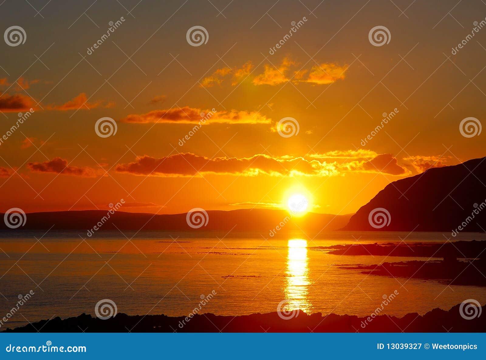 Sunset Mull of Kintyre.
