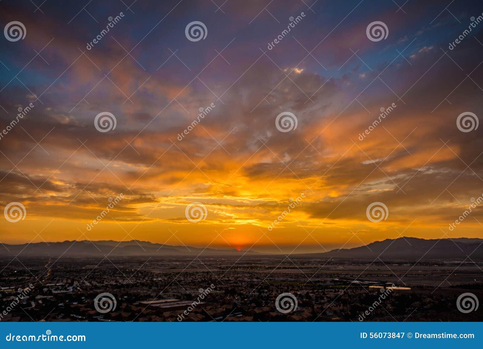 sunset in nv stock photo image 56073847. Black Bedroom Furniture Sets. Home Design Ideas