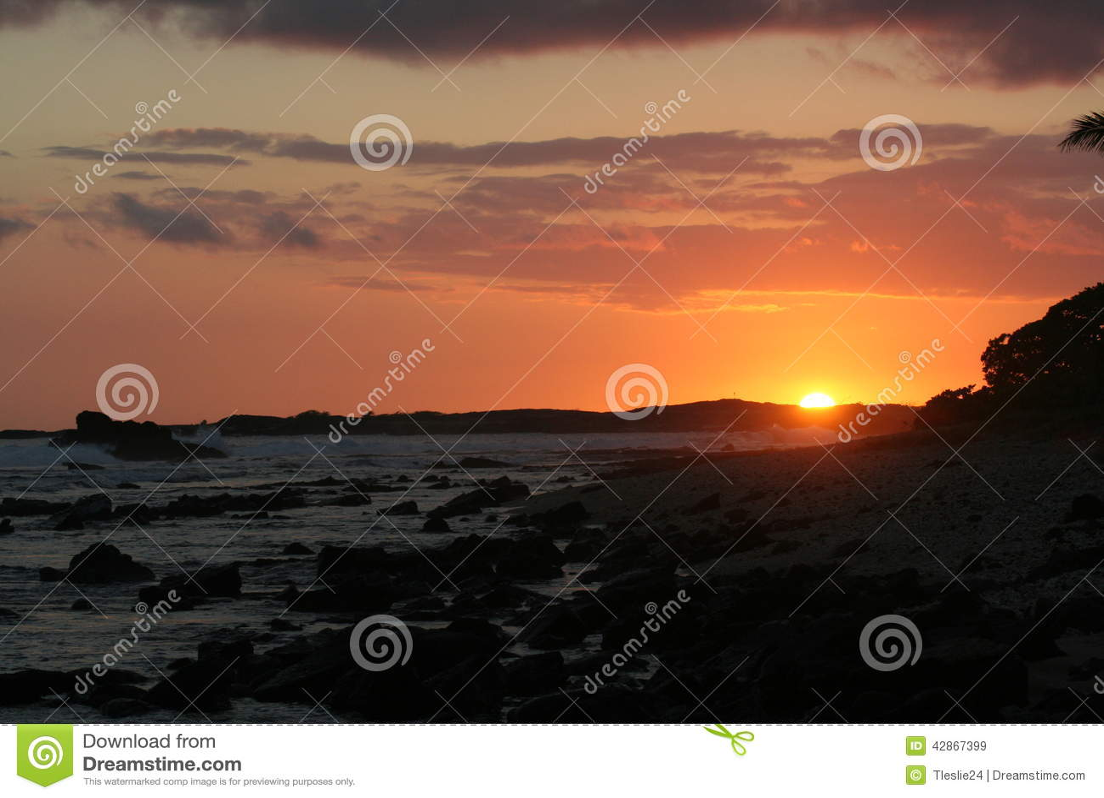 Sunset from old airport Kailua-Kona, hawaii