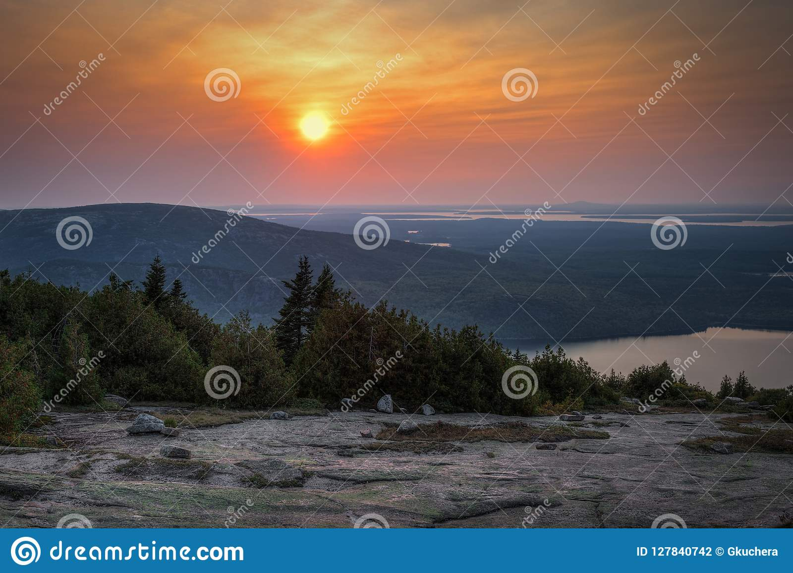 Sunset Over Acadia National Park