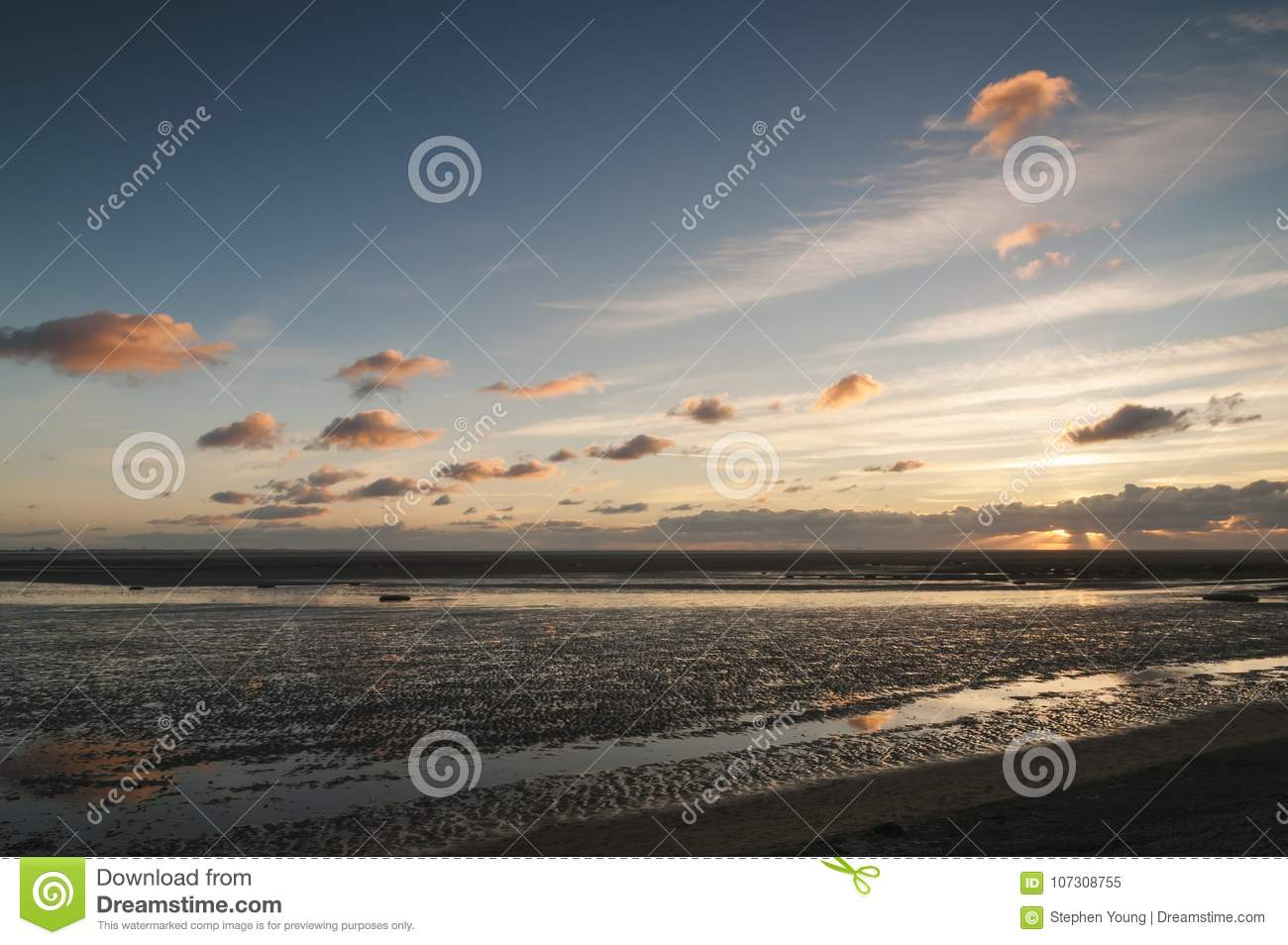 Wet Sands and Sunset