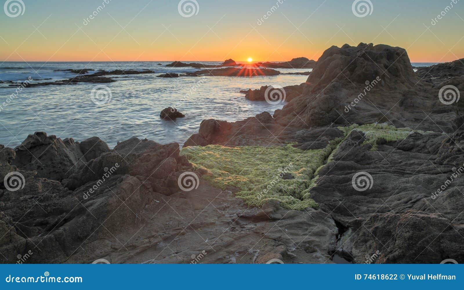 California san mateo county pescadero - Sunset Over Bean Hollow State Beach Pescadero California Usa Stock Photo