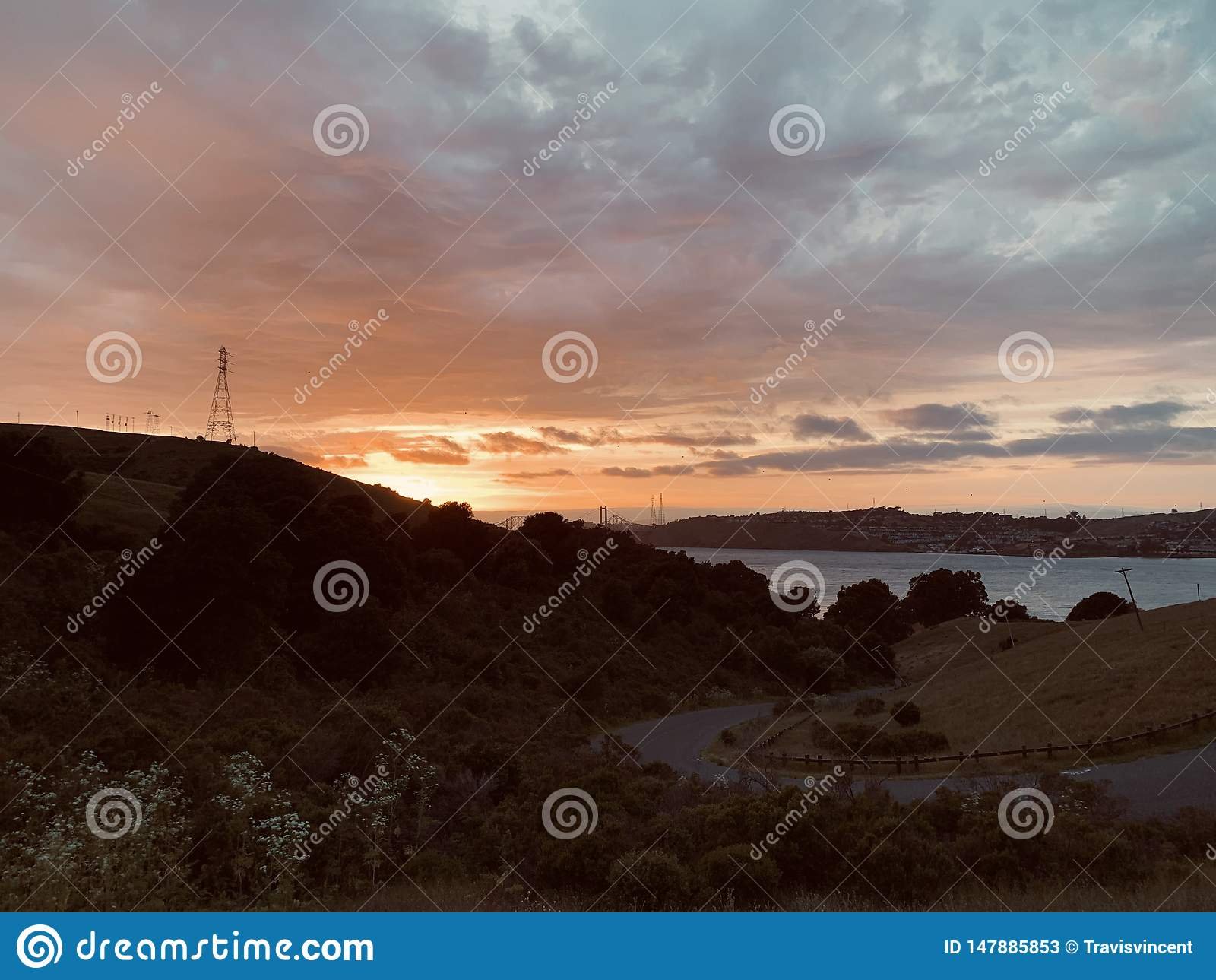 Sunset over Carquinez Strait