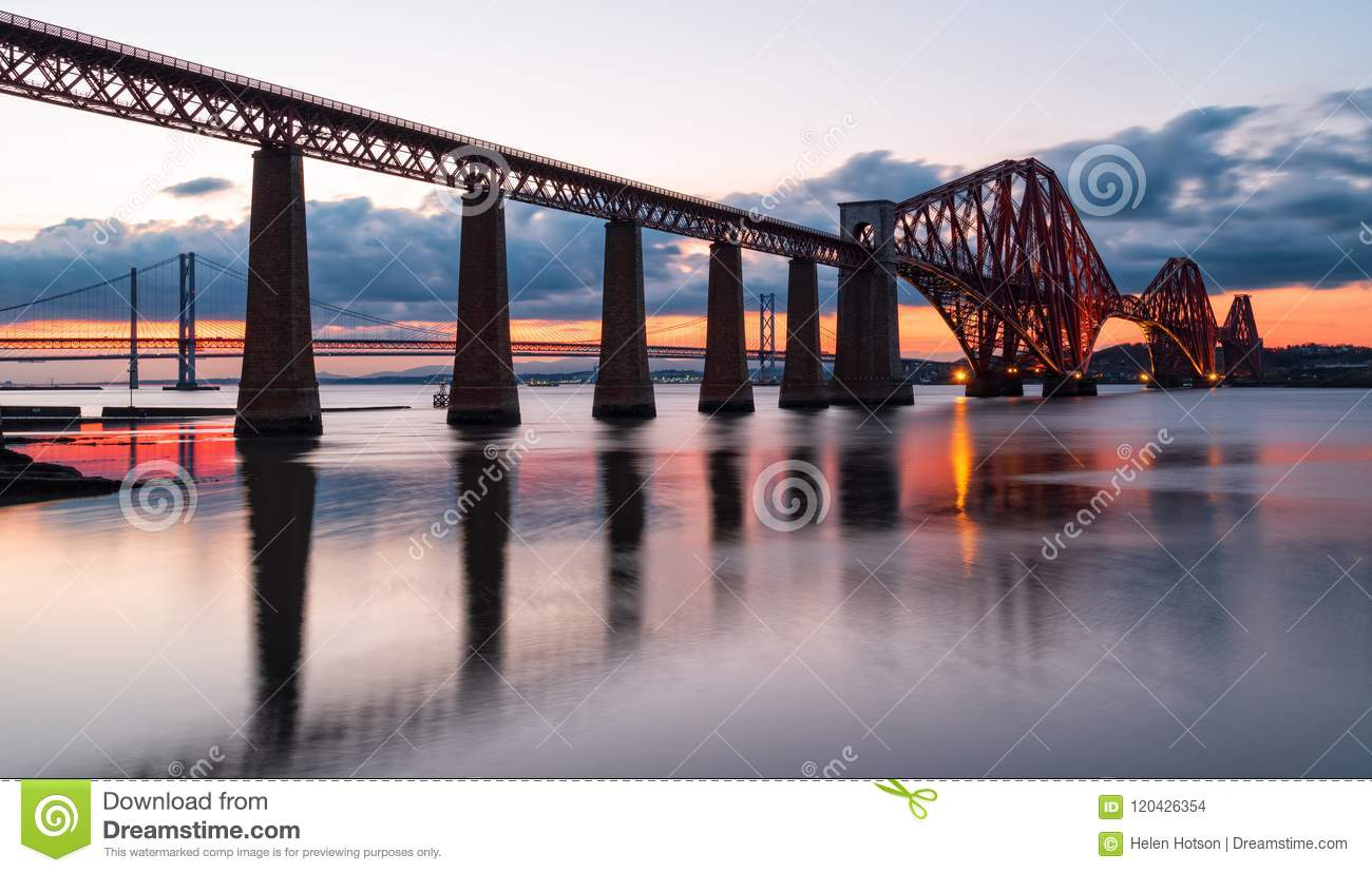 Sunset over the Forth Bridge