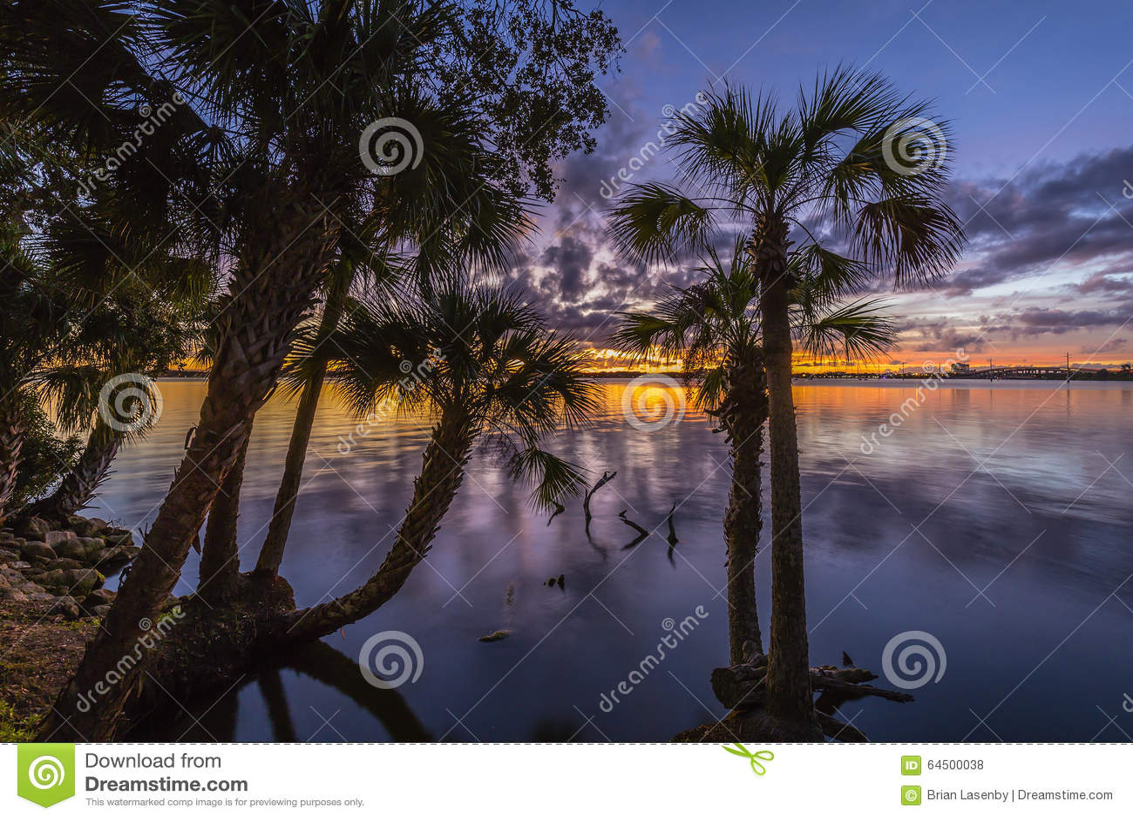 Sunset Over the Indian River - Merritt Island, Florida