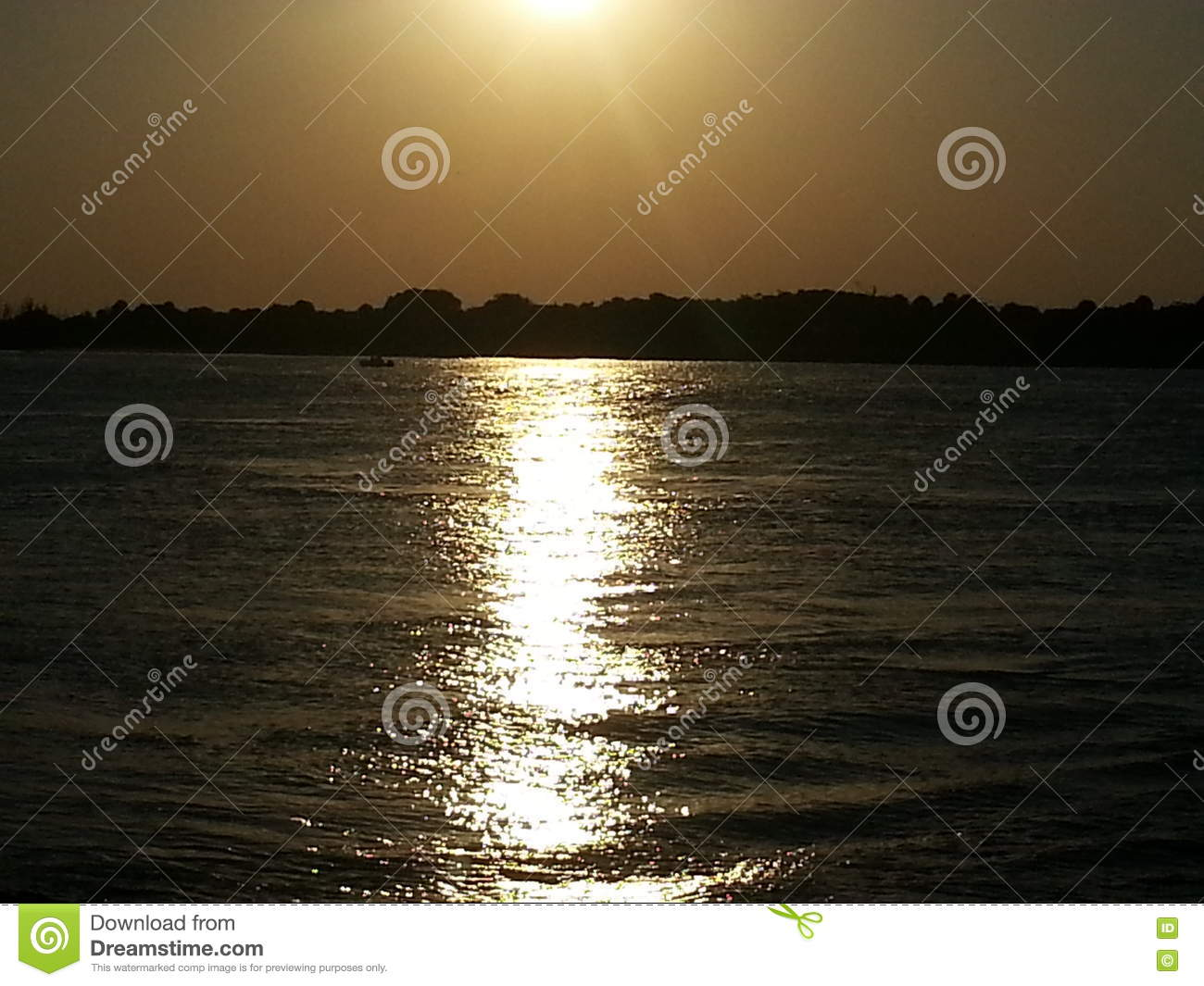 Sunset Over Intracoastal Waterway Stock Photo - Image of