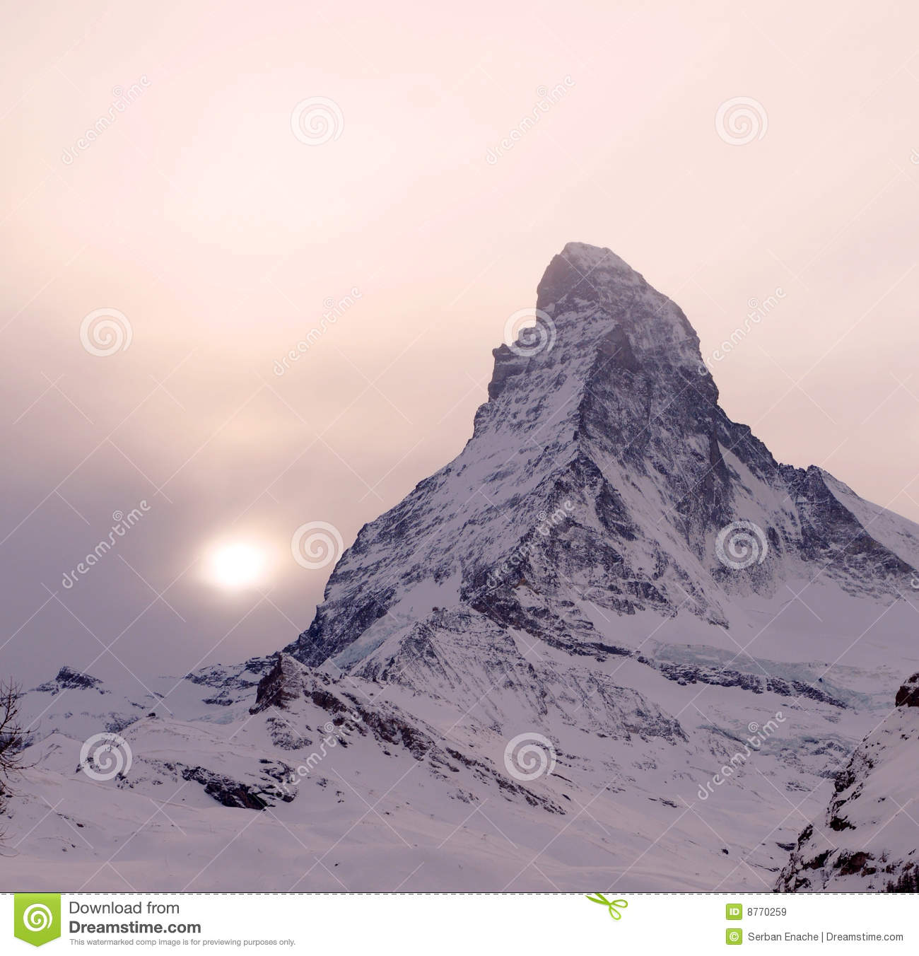 Sunset over Matterhorn