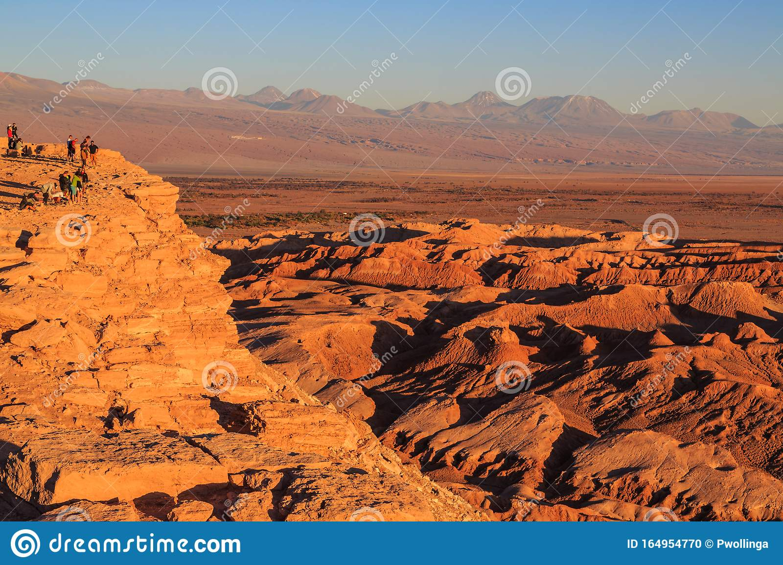 Sunset Over The Moon Valley Valle De La Luna In The Atacama Desert Chile Editorial Image Image Of Andes Nature 164954770