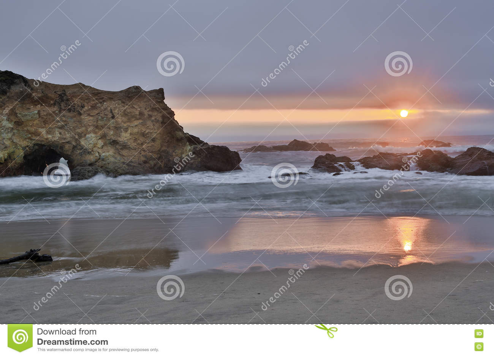 California san mateo county pescadero - Sunset Over Pescadero State Beach In San Mateo County California