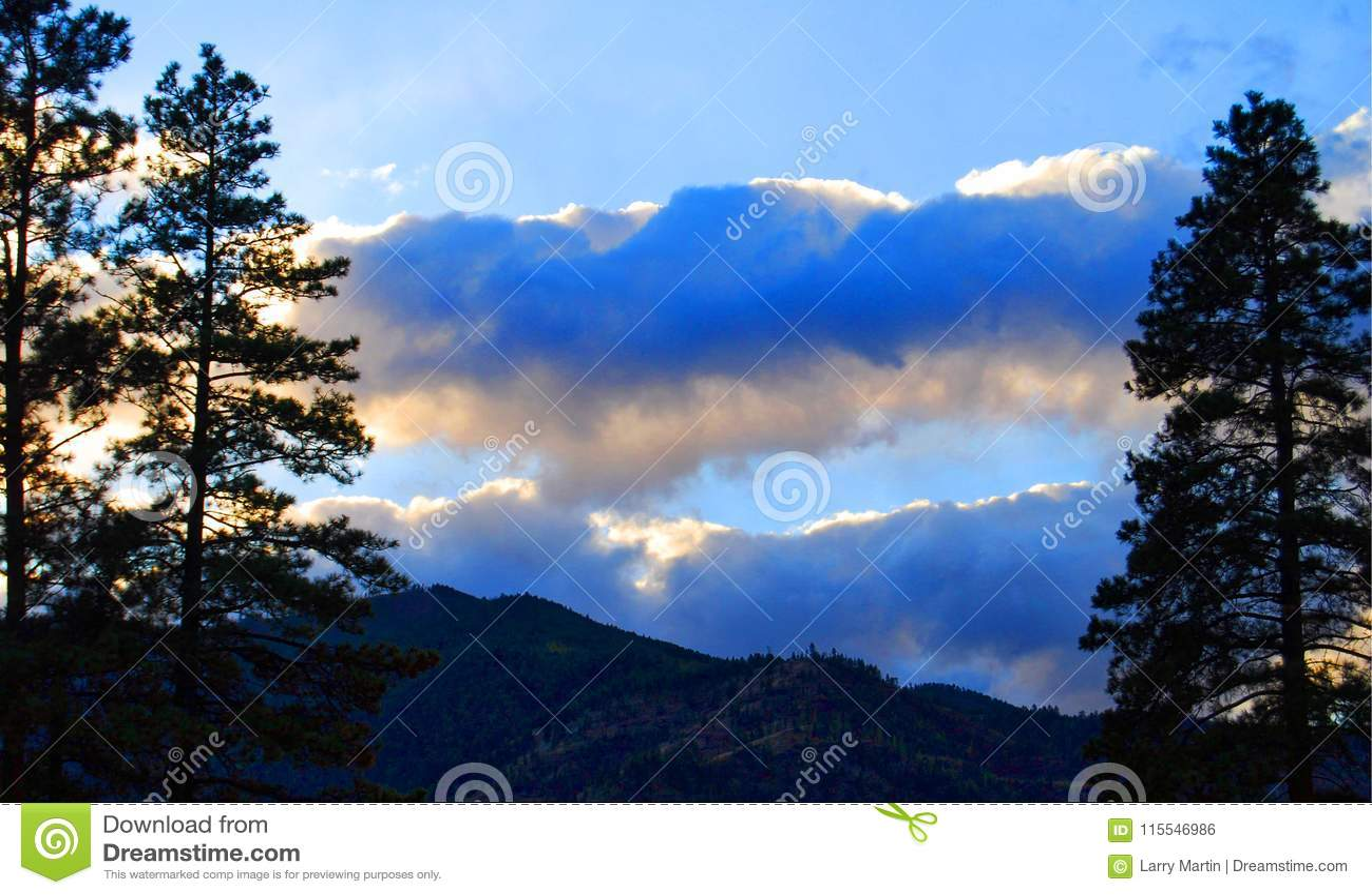 Sapphire Mountains Montana Map.Sunset Over Sapphire Mountains Montana Stock Photo Image Of