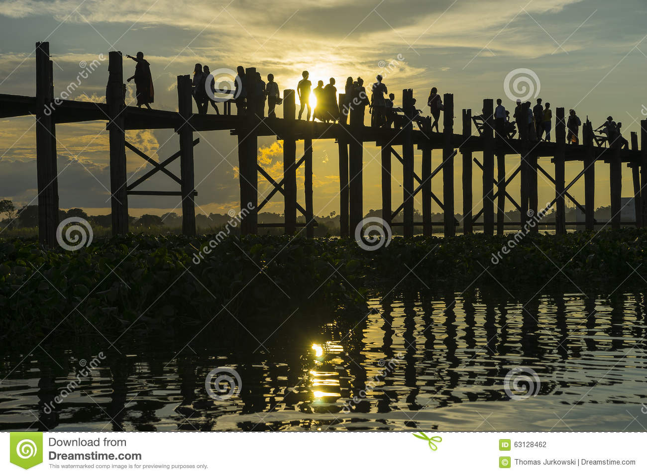 Sunset over teak bridge editorial photography image of for Http wikipedia org wiki