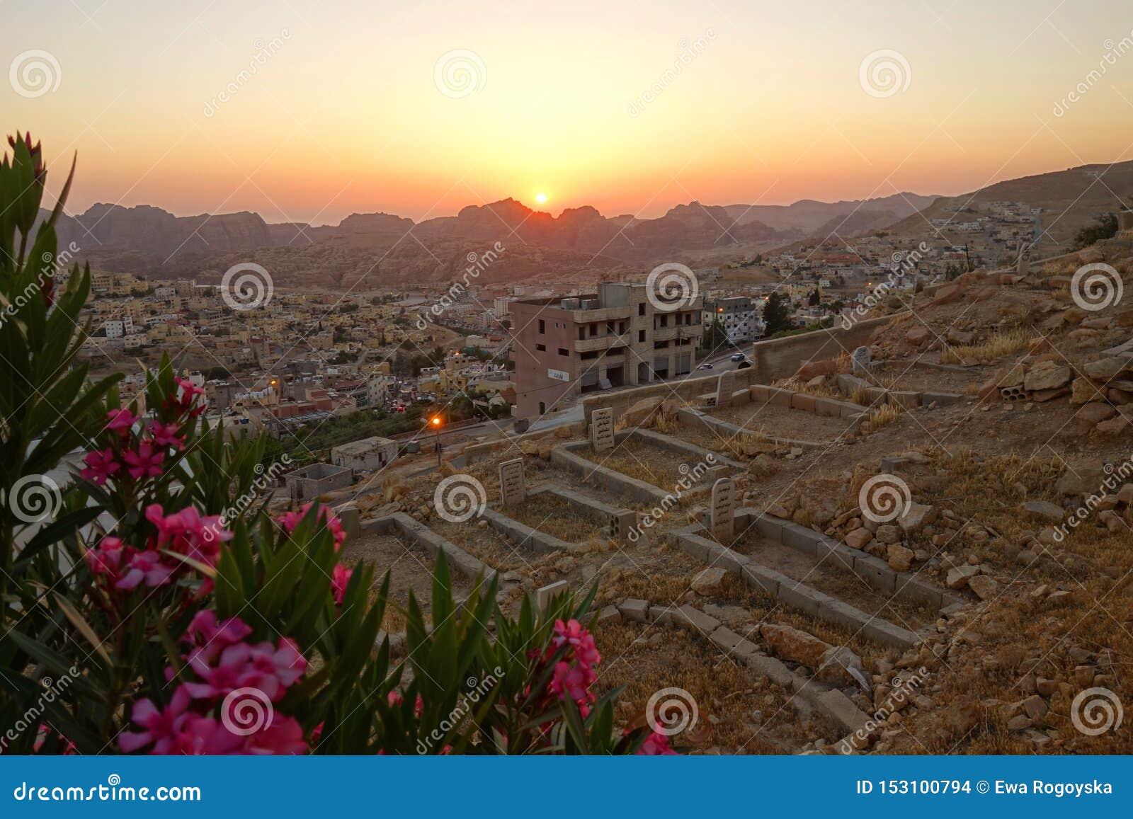 Sunset over Wadi Musa