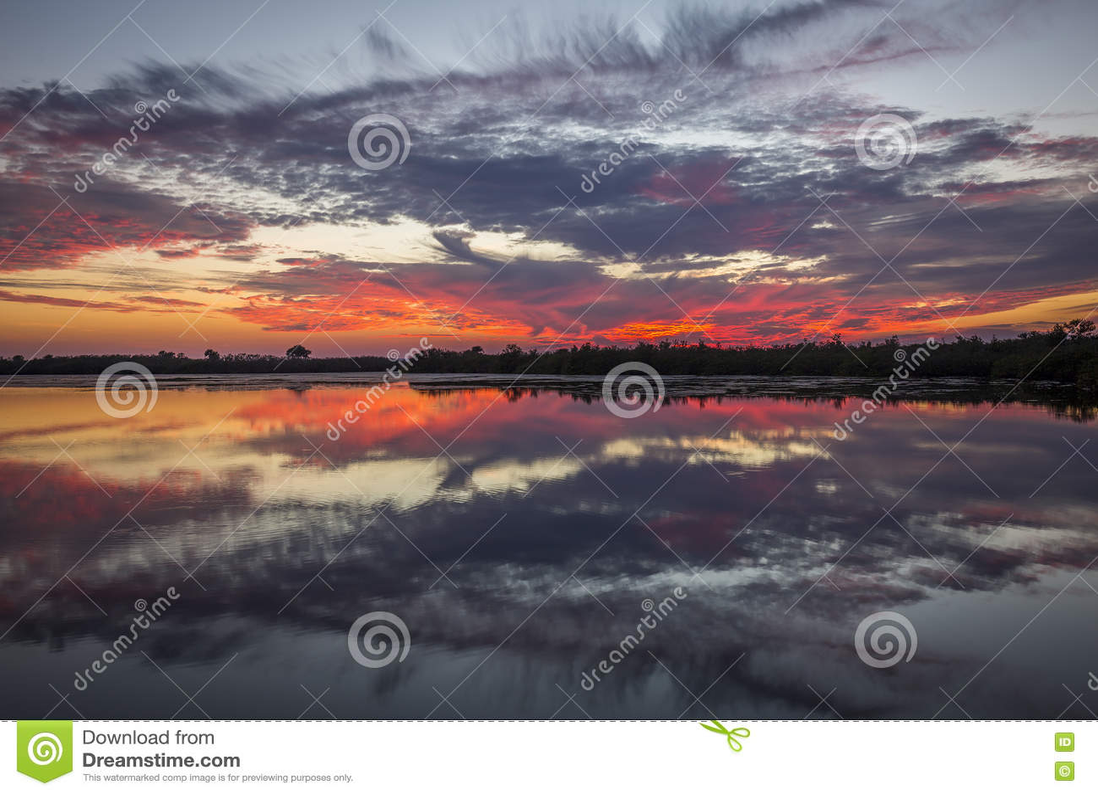 Sunset over water - Merritt Island Wildlife Refuge, Florida