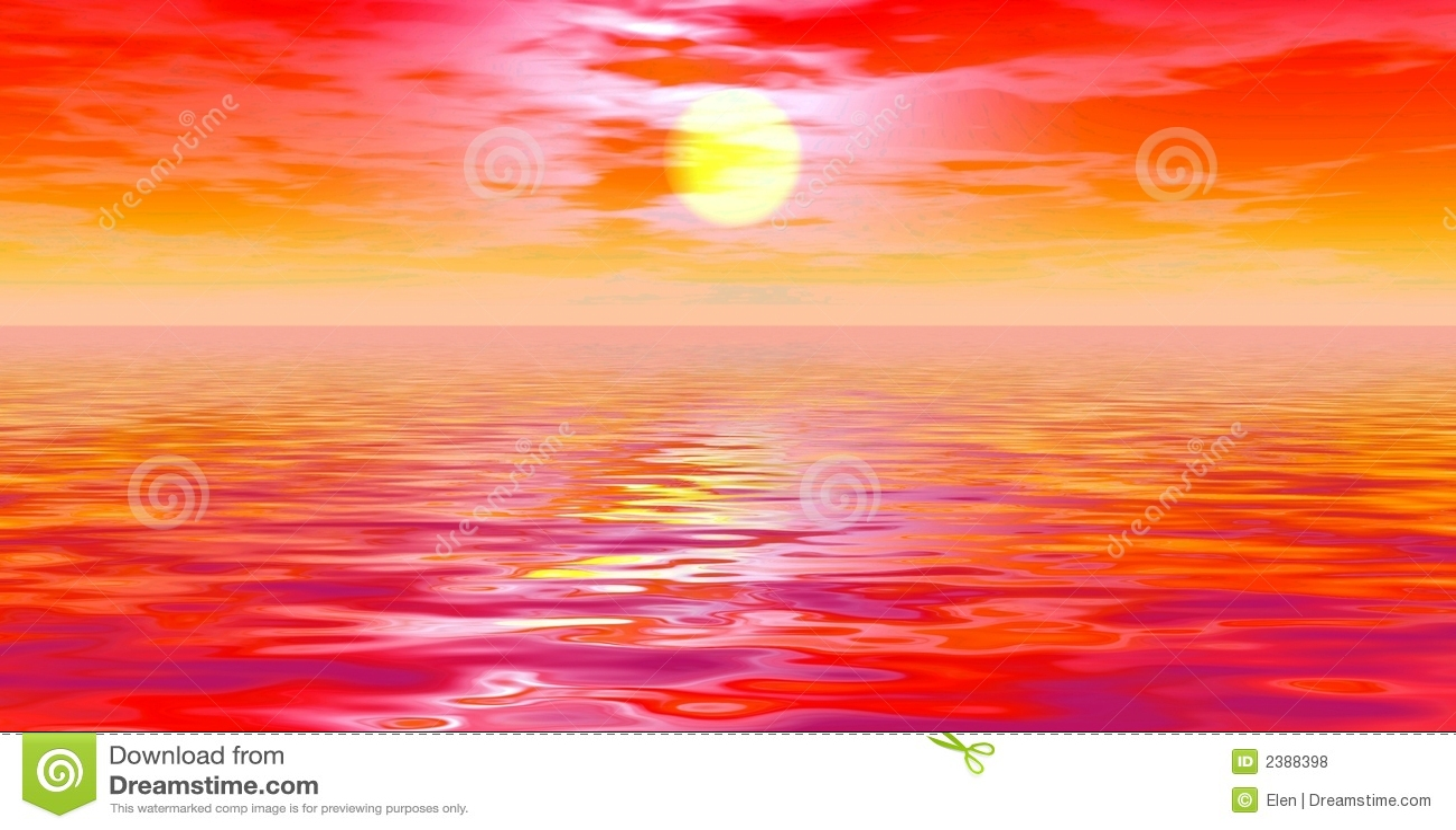 Sunset. Panoramic Scene Royalty Free Stock Photos