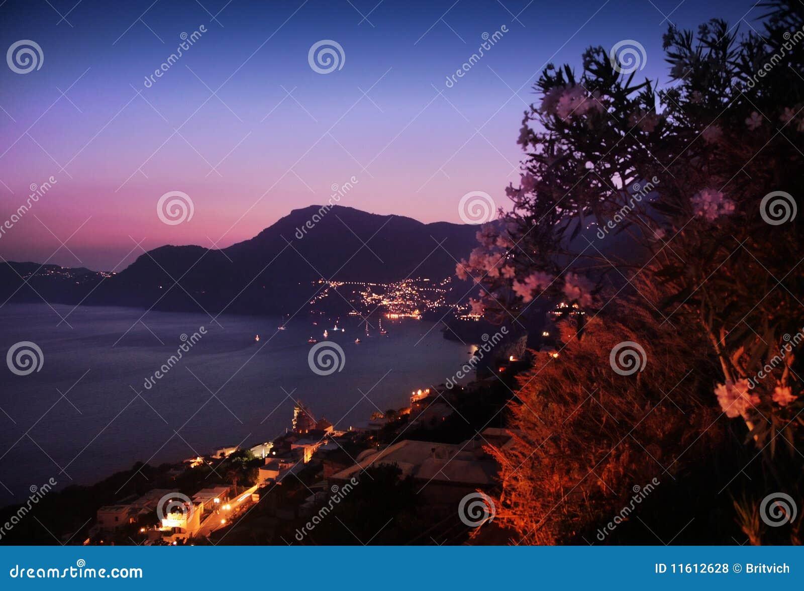 Sunset praiano view