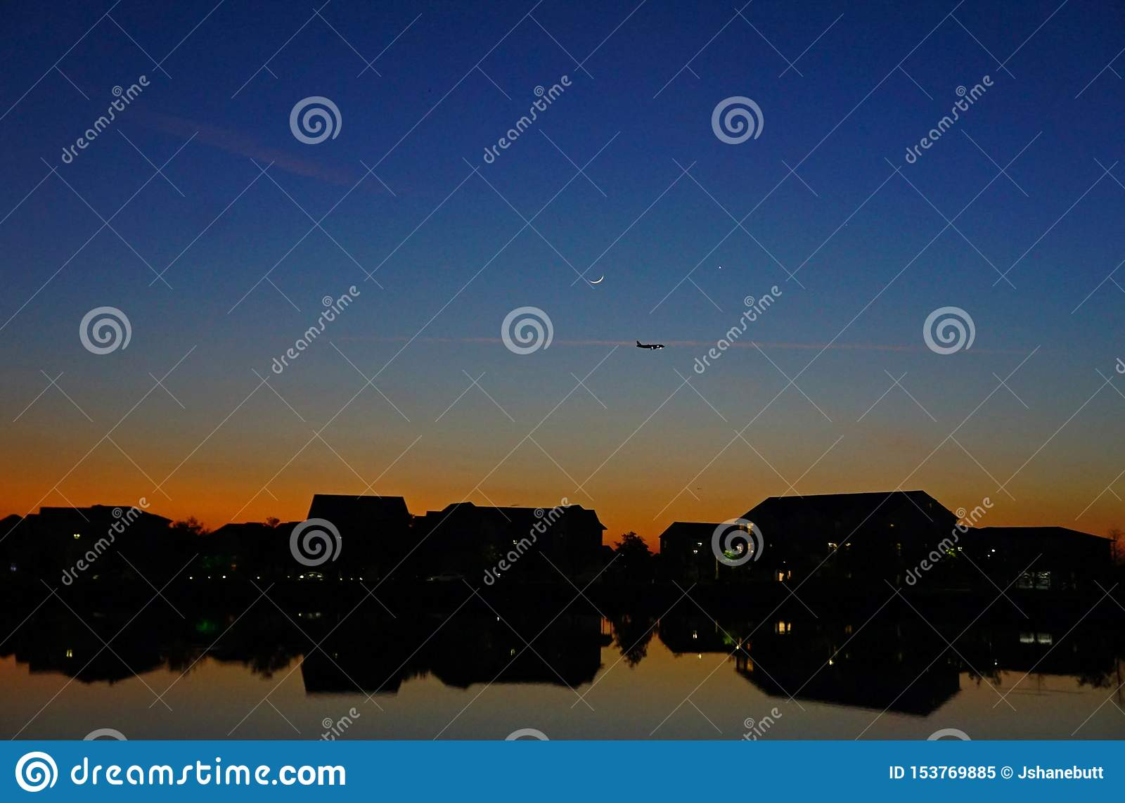 Sunset reflected on the water