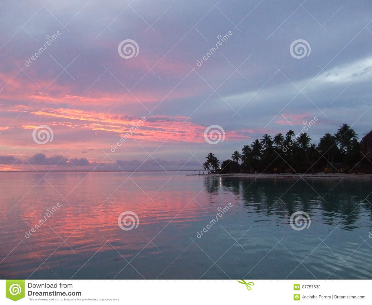 Sunset Reflected on Water