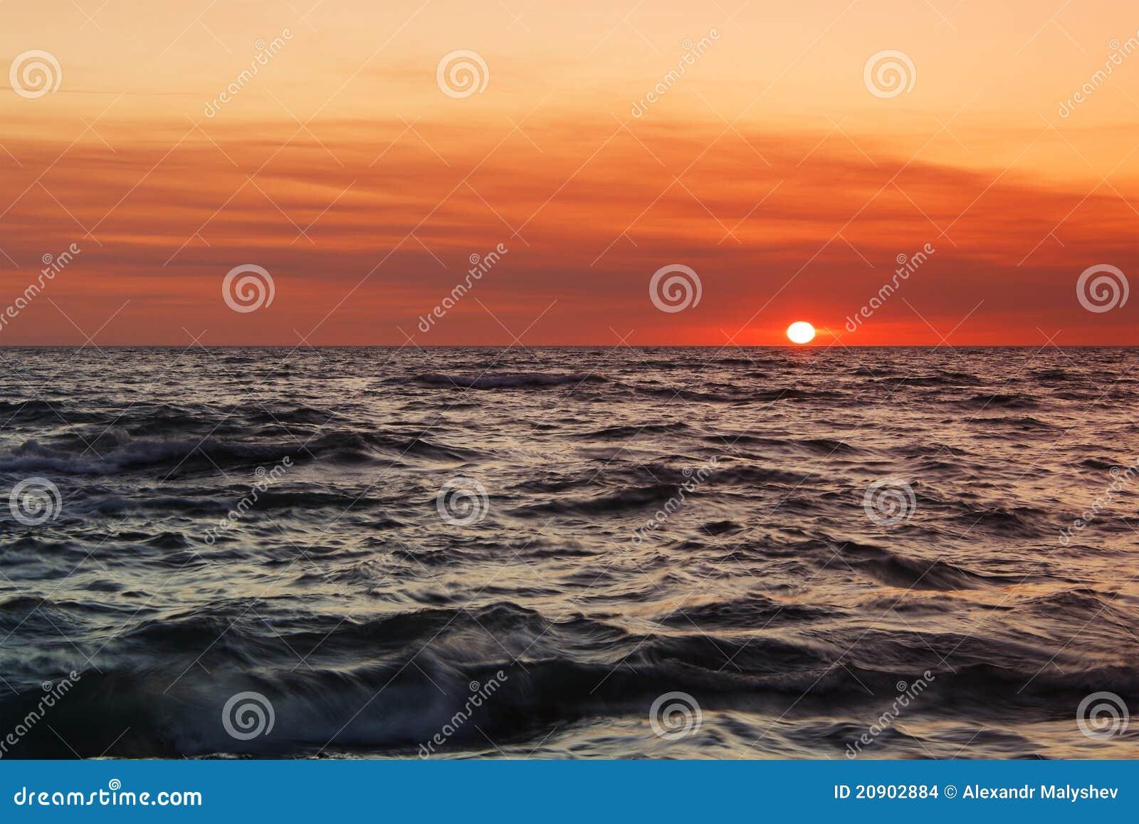 Sunset at Sea.