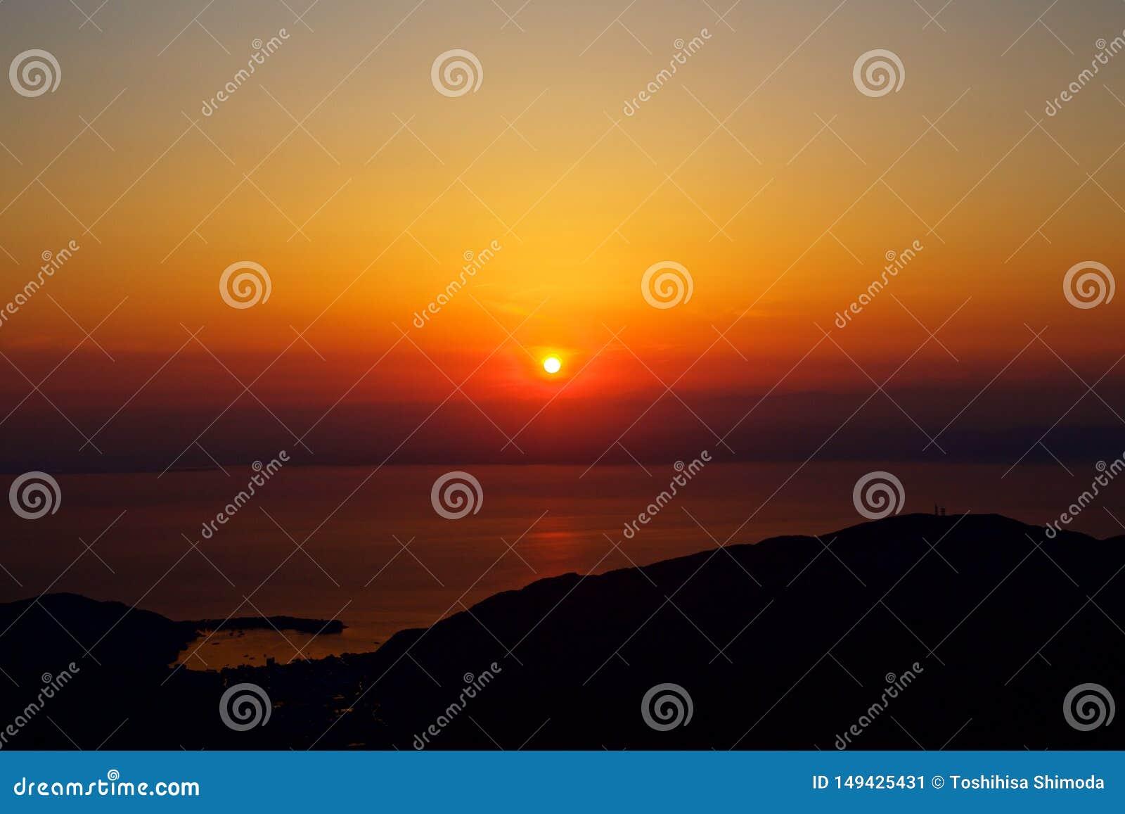Sunset seen from Izu Peninsula.