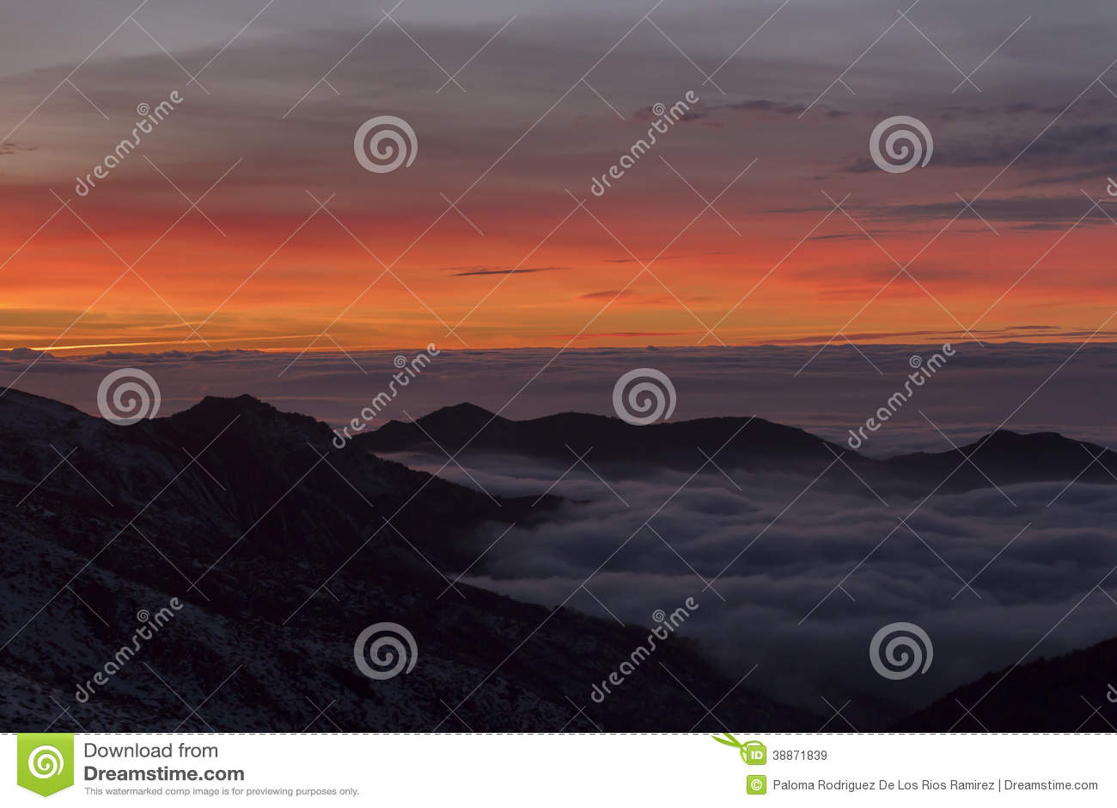 Sunset In Sierra Nevada Granada Spain Stock Image Image