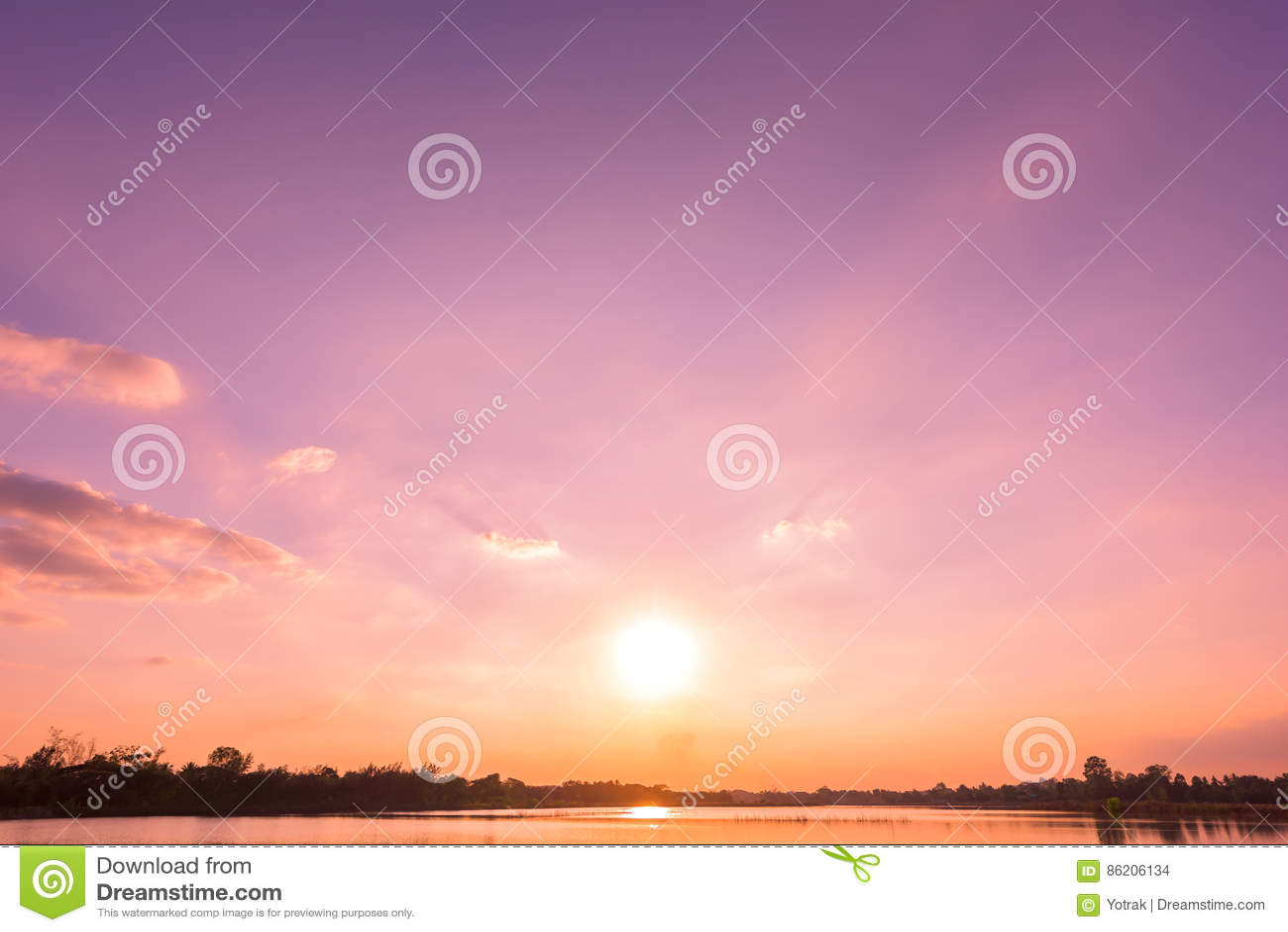 Sunset Sky Background Stock Photo Image Of Shore Evening 86206134