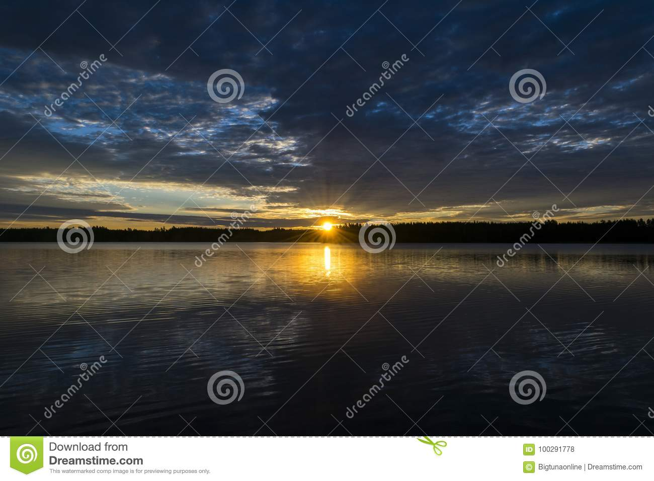 Sunset sky background. Dramatic gold sunset sky with evening sky clouds over the sea. Stunning sky clouds in the sunset. Sky