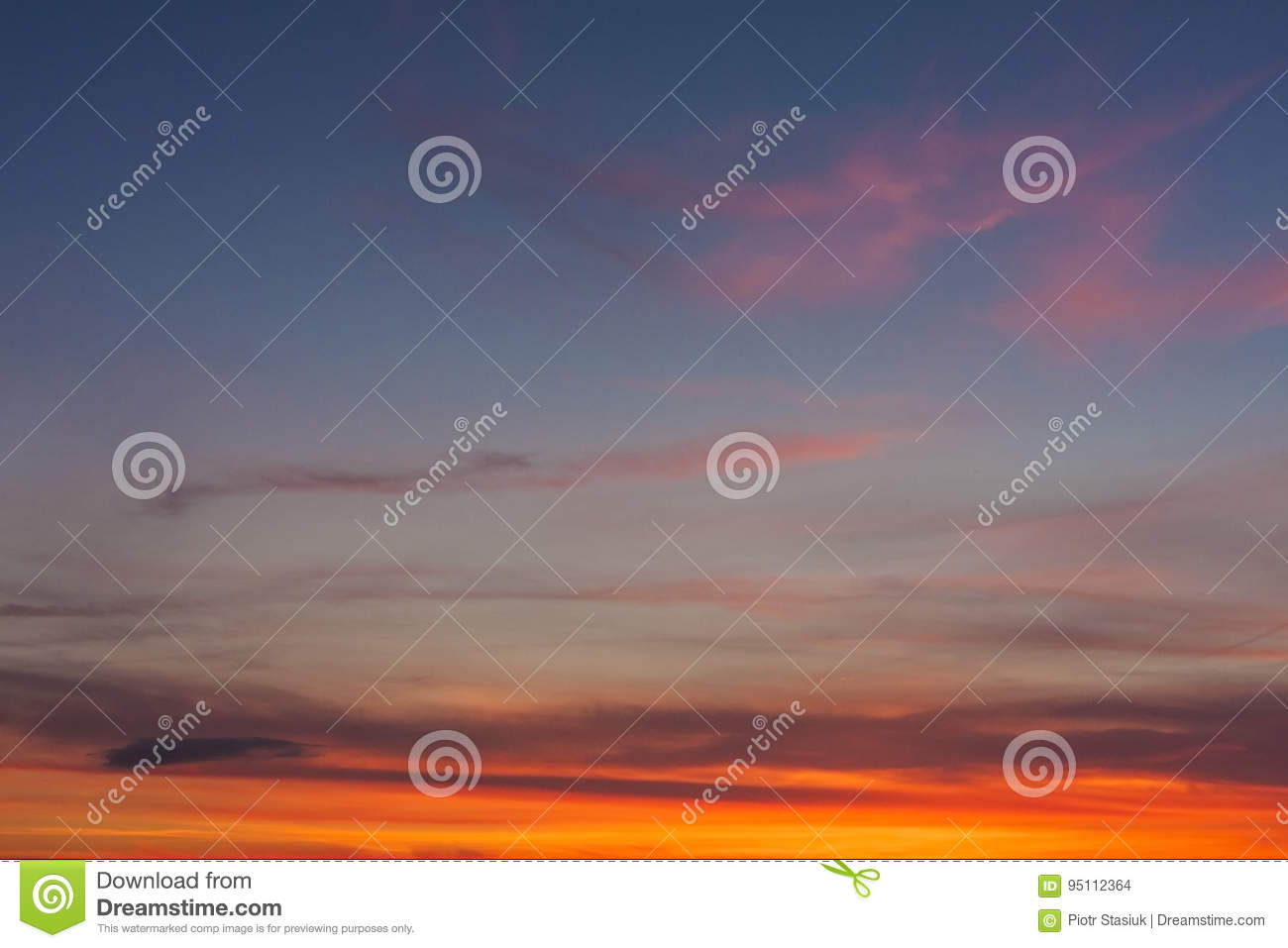 Sunset sky for backgrounds
