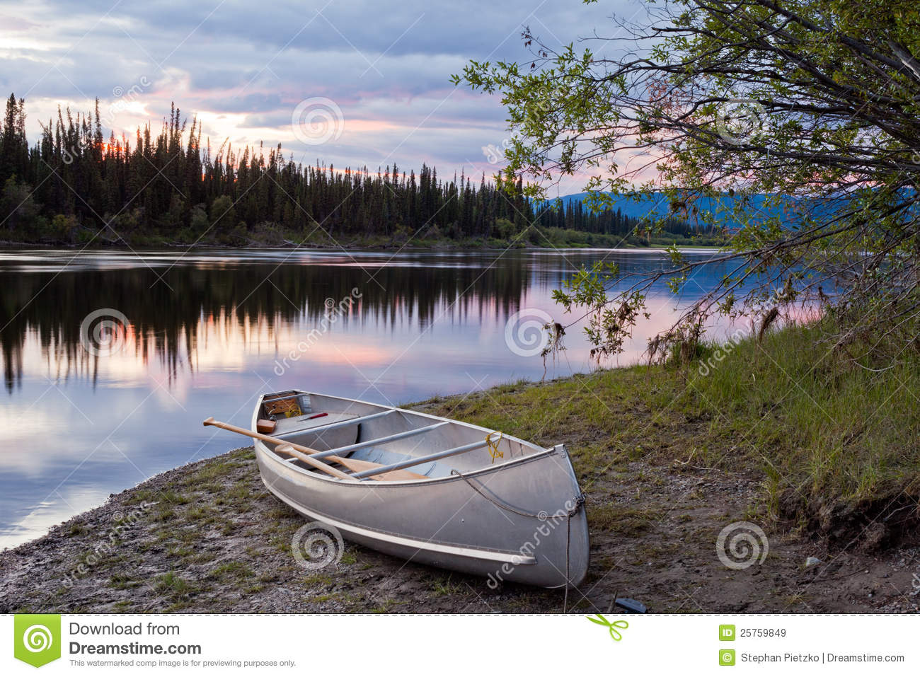 River in the remote wilderness of yukon territory canada the river