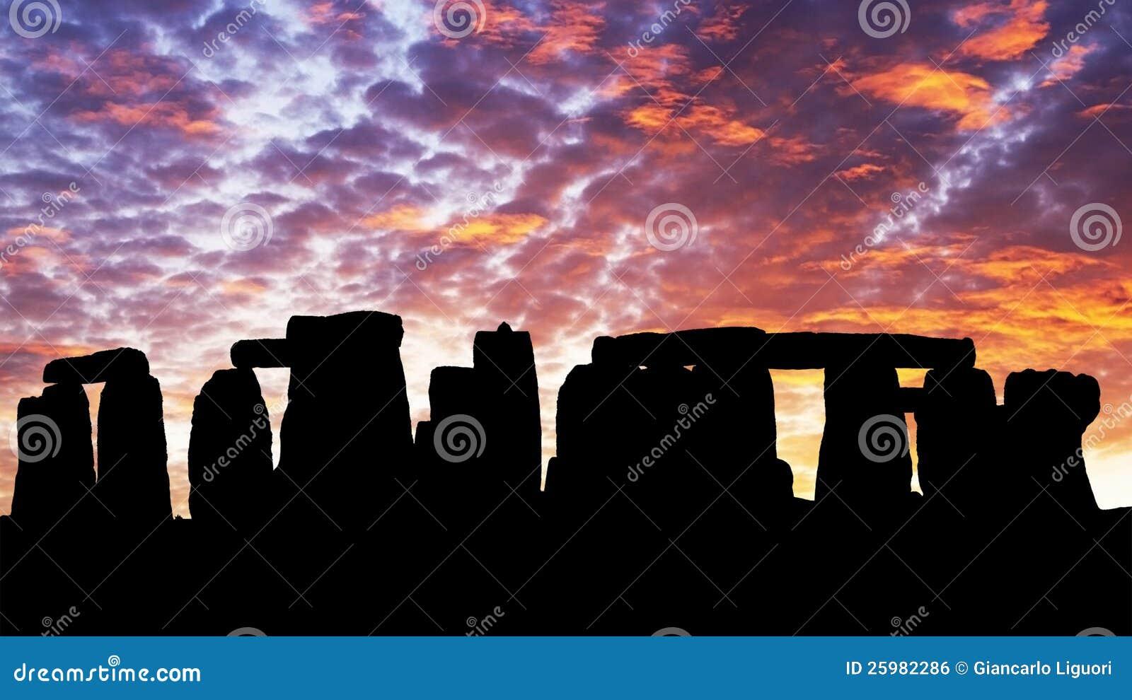 Sunset in the Stonehenge