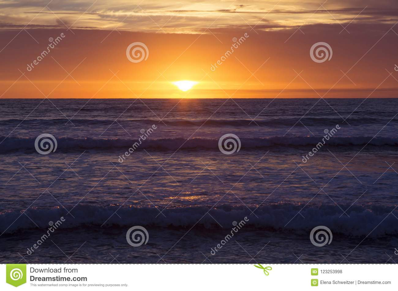 Download Sunset at Strandhill Beach stock photo. Image of europe - 123253998