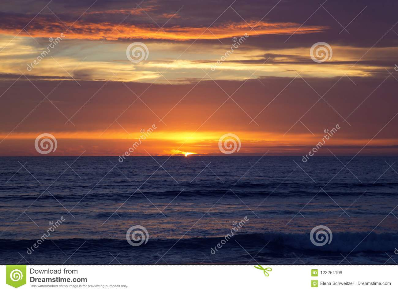 Download Sunset at Strandhill Beach stock image. Image of tourism - 123254199
