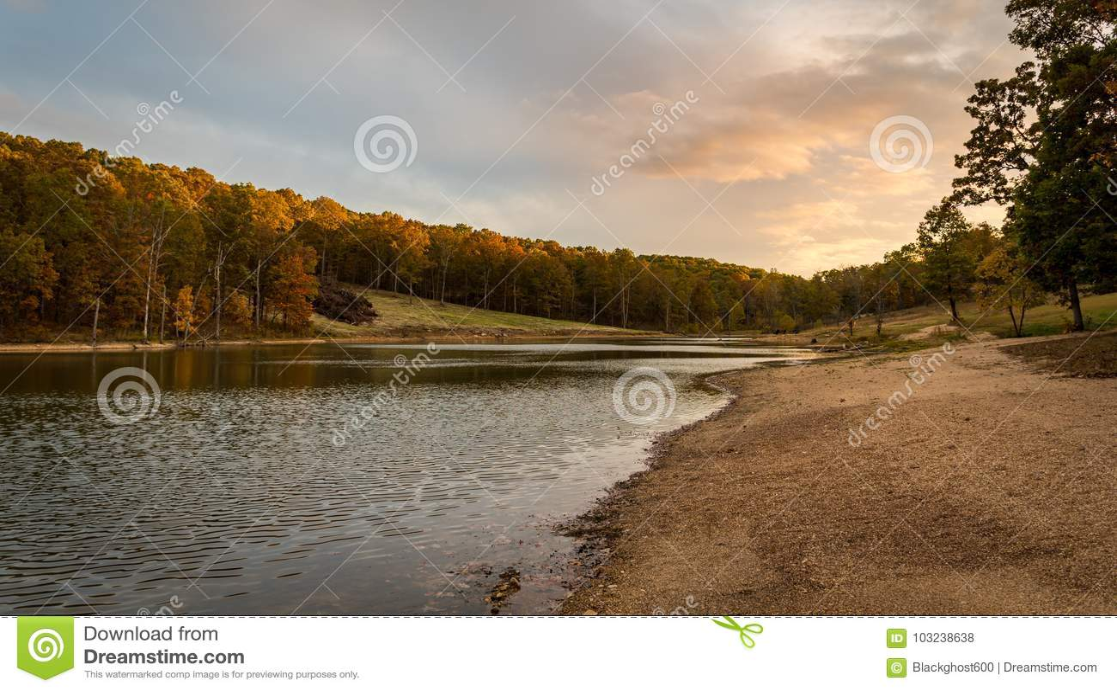 Lake Ozark Missouri >> Sunset By A Stream In The Ozarks Mountains Of Missouri