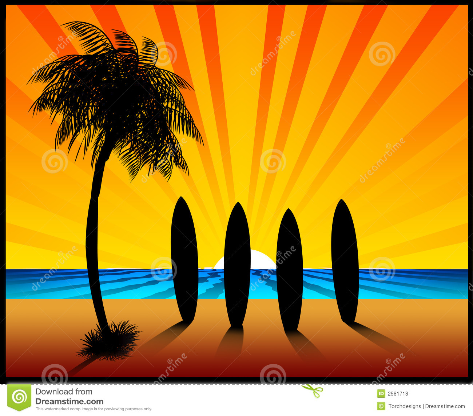 Surfboards Stock Illustrations – 1,711 Surfboards Stock ...