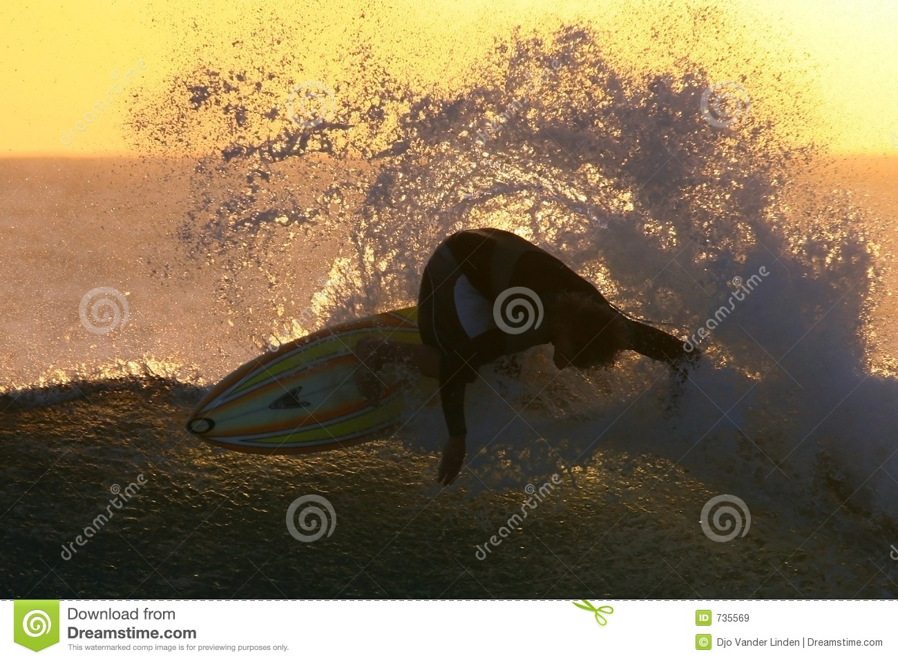 Sunset surfingu