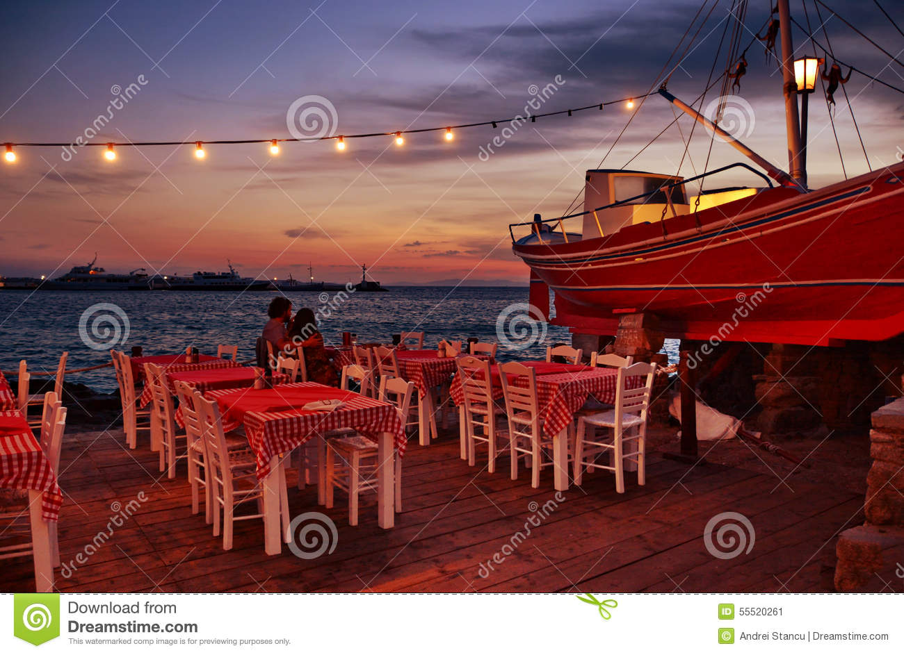 Sunset at tavern editorial photo  Image of port, pink - 55520261