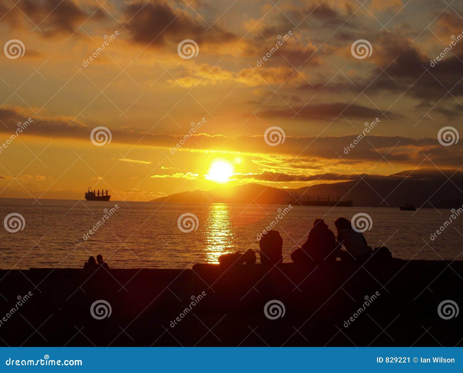 Sunset on Vancouver Beach